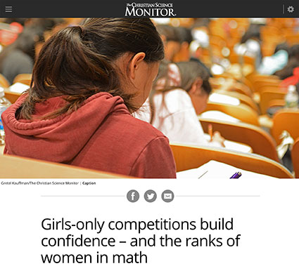 Girls-only competitions build confidence—and the ranks of women in math